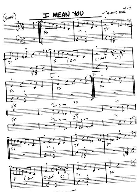 Partitura Violín Thelonius Monk
