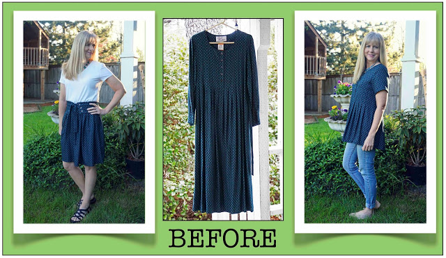 Refashion from dress to skirt + tunic - Second Chances by Susan