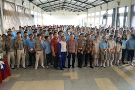 Berikut Ini Ratusan Siswa/i SMK Immanuel Ikuti Kampanye #Cari_Aman Astra Motor