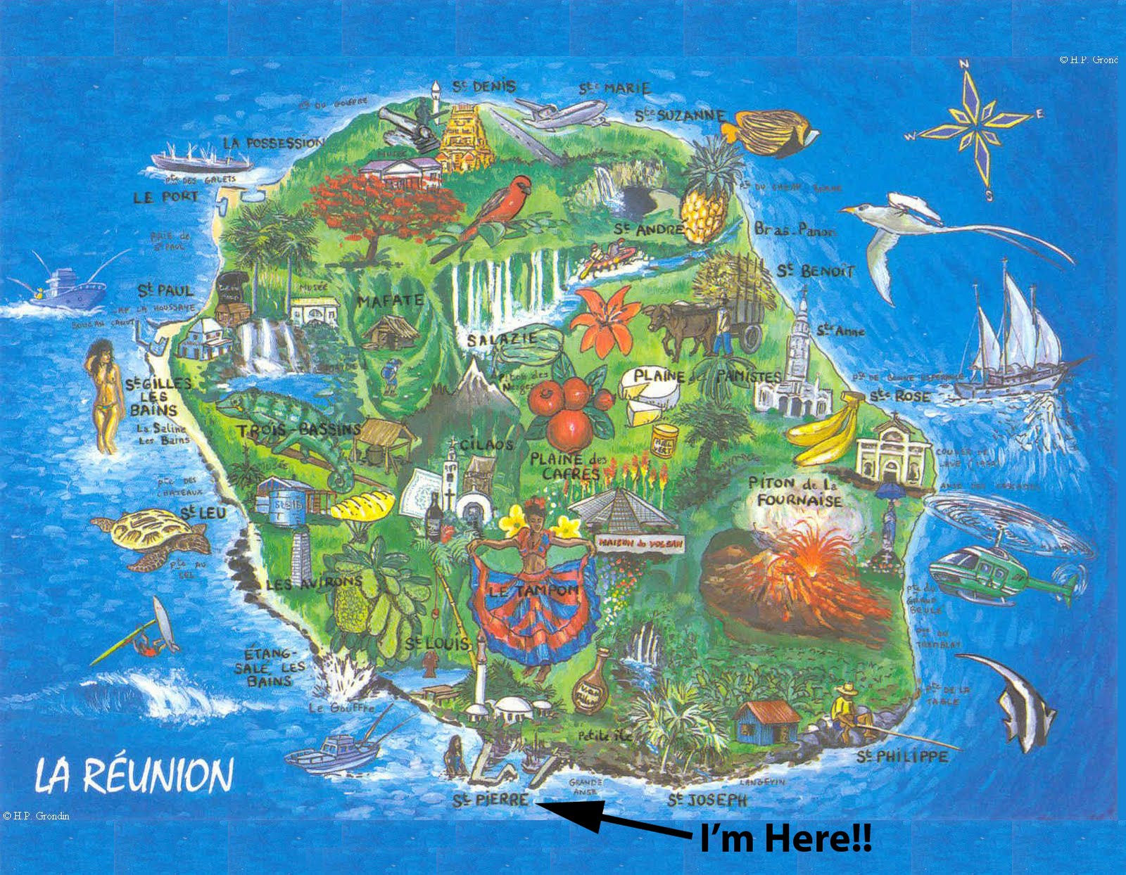 Shaan S Work Exchange And Travels Map Of La Reunion