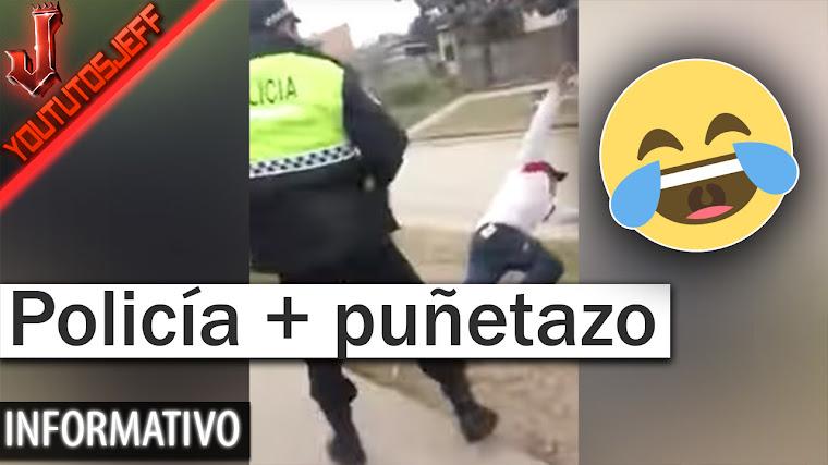 Policía le da un terrible puñetazo por provocarle