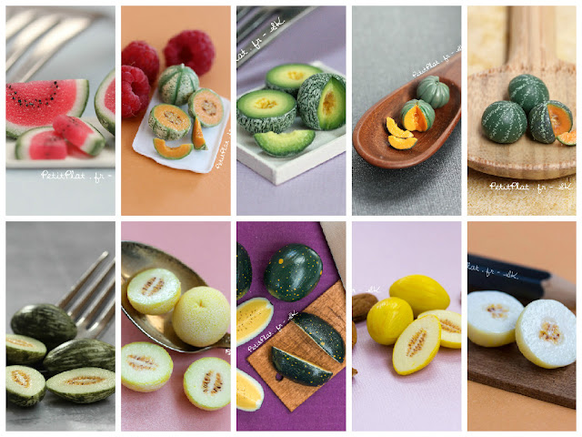 Various Miniature Melons and Watermelons by Stephanie Kilgast