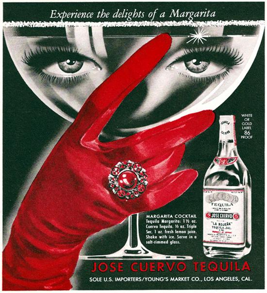 Jose Cuervo Tequila ad 1962