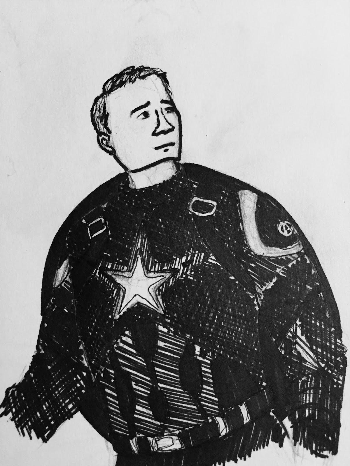 Something Splendid Studios Inktober Day 17 Captain America