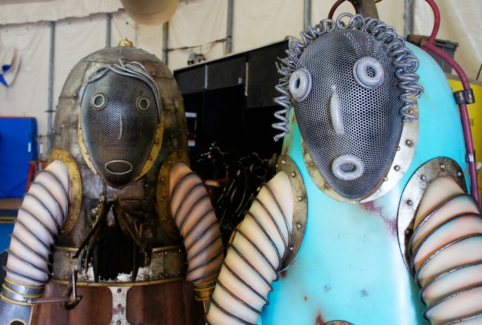 Kurios costumes up close