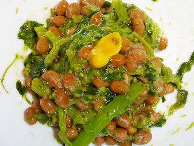 納豆に菜の花