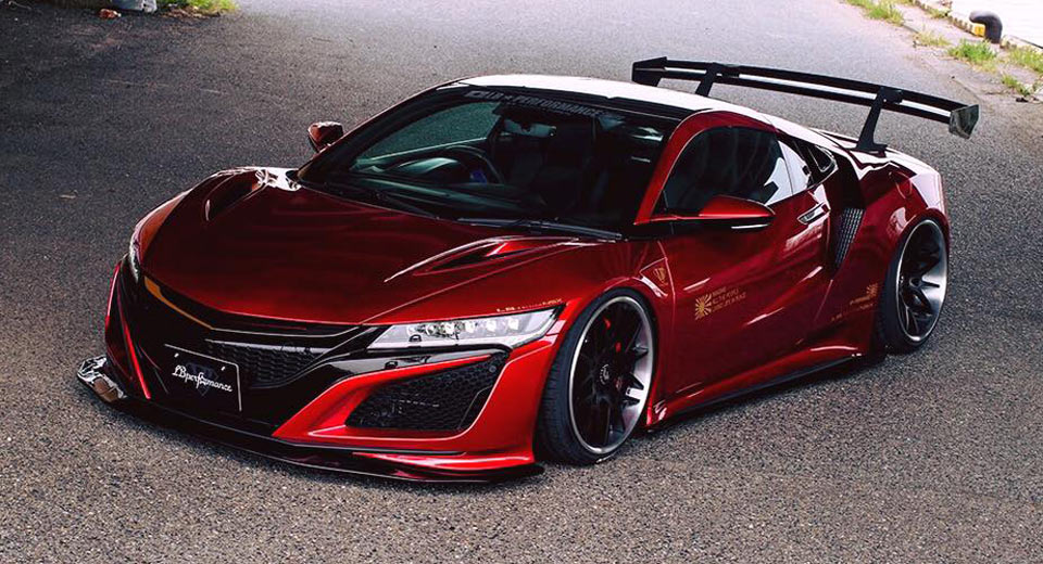 liberty walk nsx revealed complet with carbon front. Black Bedroom Furniture Sets. Home Design Ideas