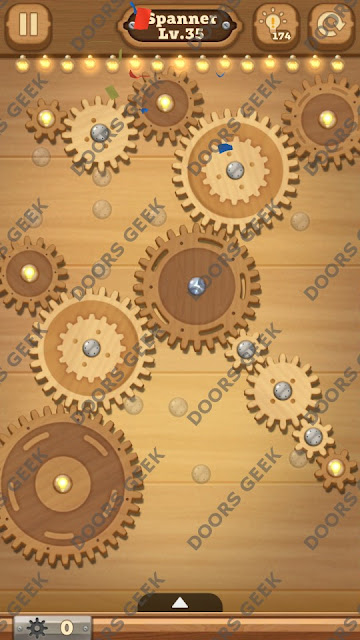 Fix it: Gear Puzzle [Spanner] Level 35 Solution, Cheats, Walkthrough for Android, iPhone, iPad and iPod