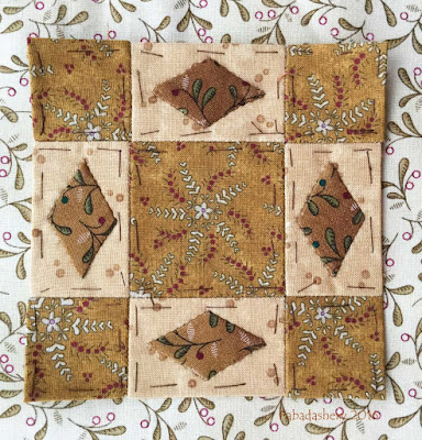 Dear Jane Quilt - Block G11 Decisions, Decisions
