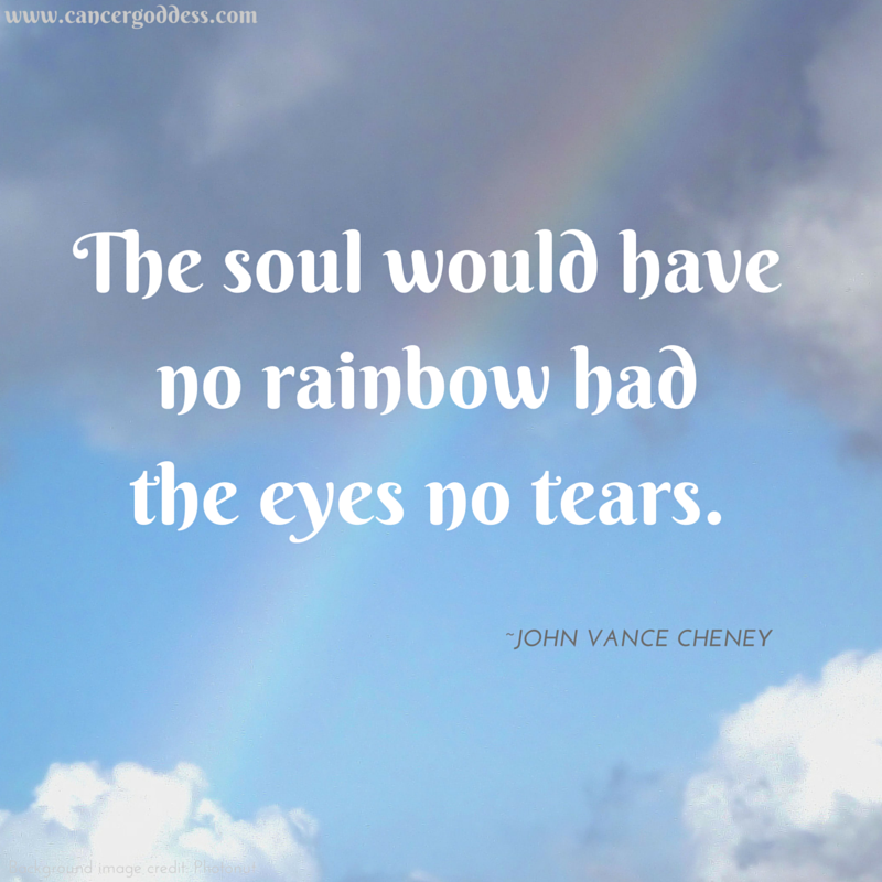 The soul would have no rainbow had the eyes no tears #quote
