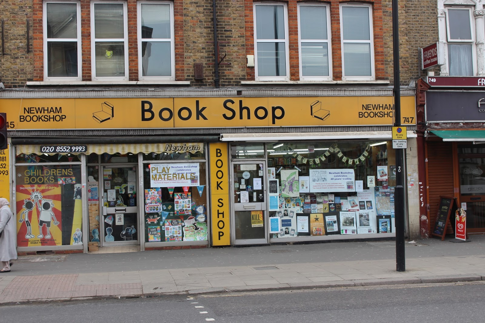 E7 Now & Then: Happy birthday, Newham Bookshop!