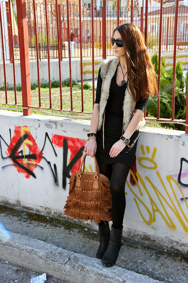 black and beige best casual boho spring street style looks