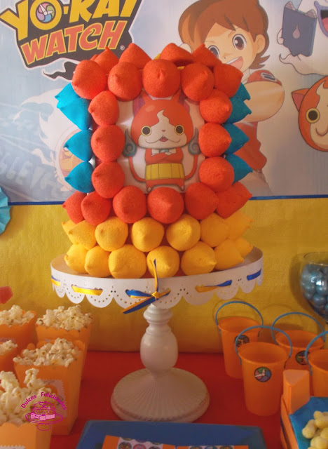 Tarta de chuches Yo Kai Watch