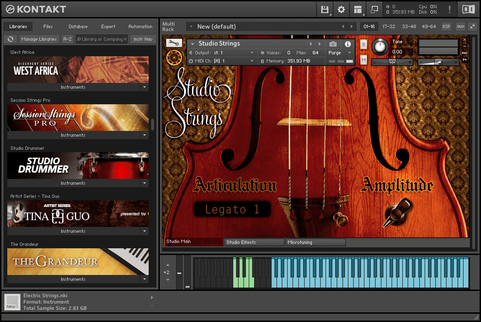 Neocymatics - Hybrid Strings KONTAKT Library studio strings