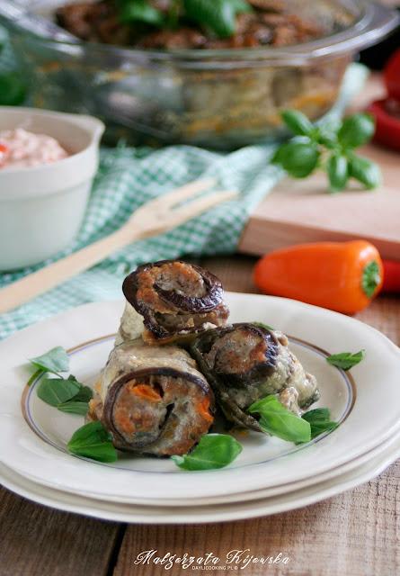 roladki z mielonego mięsa, bakłażan, obiad, daylicooking