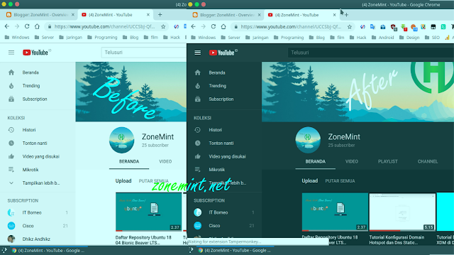 Bagaimana Cara Setting Dark Theme Youtube di Google Chrome