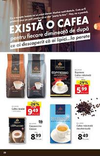 CATALOG LIDL 7 ianuarie - 13 ianuarie 2019 promotii cafea boabe