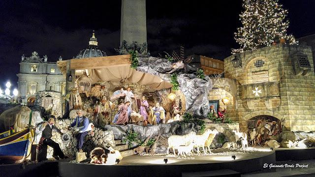 Navidad, Nacimiento en la Plaza de San Pedro - Ciudad del Vaticano por El Guisante Verde Project