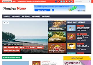 Simplex Nano Blogger Template