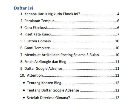 Gambar Daftar isi