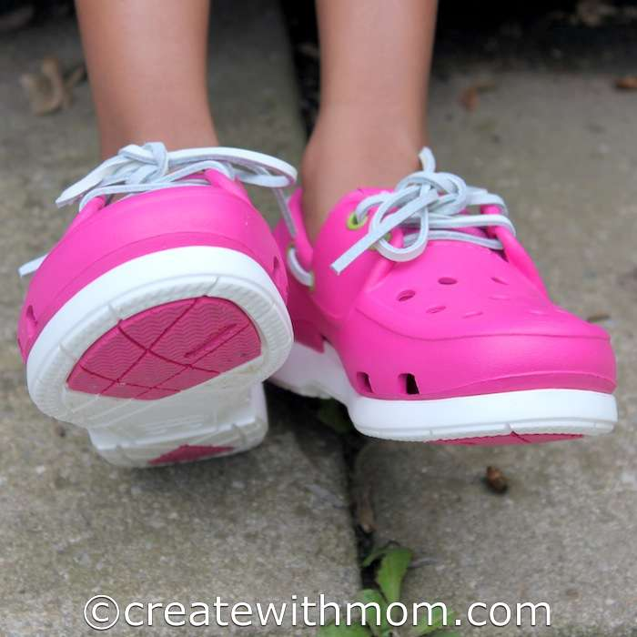 11b14b234 My daughter likes the colourful Beach Line Boat Shoe because it is  water-friendly. The comfortable cushioning with a sole designed to grip wet  surfaces is ...