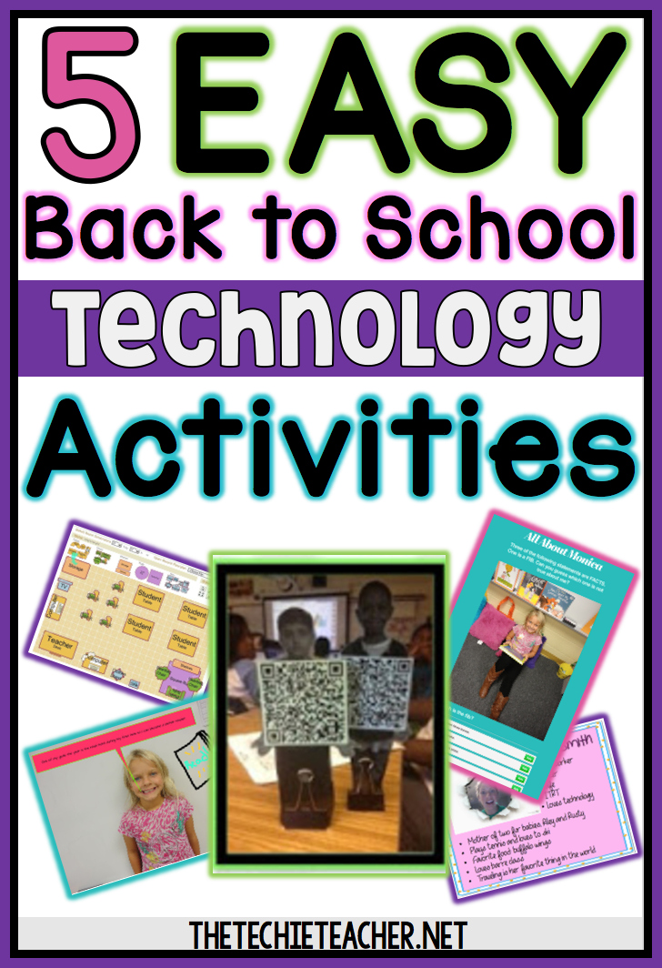 5 Easy Back to School Technology Projects for computers, laptops and/or Chromebooks