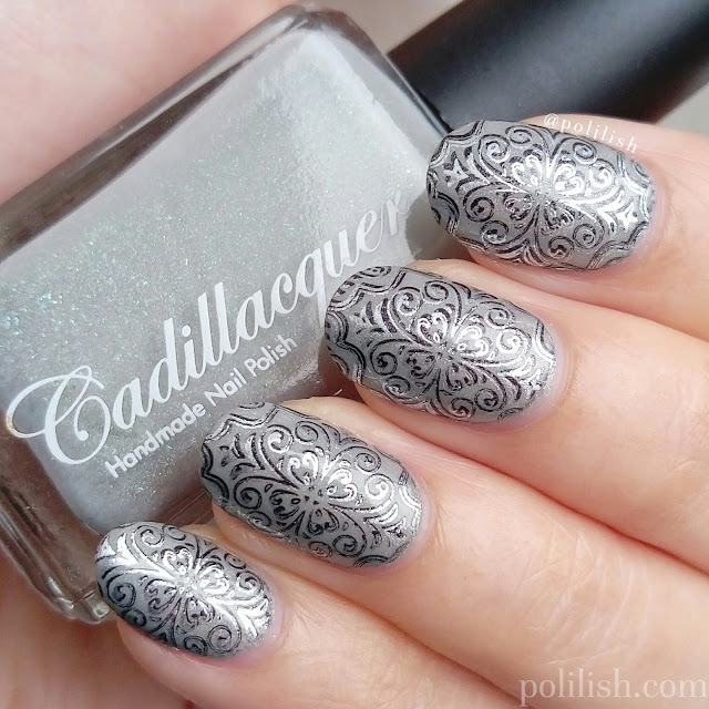 Ornate double stamping design with Cadillacquer | polilish