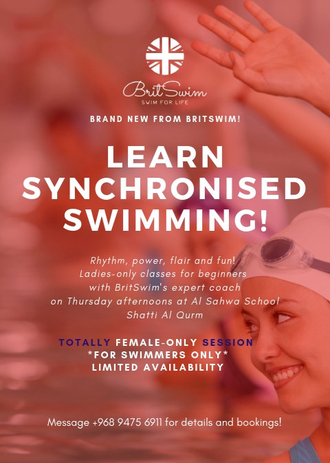 Learn synchronised swimming Muscat Oman BritSwim lessons