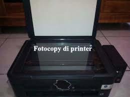 Cara fotocopy di printer