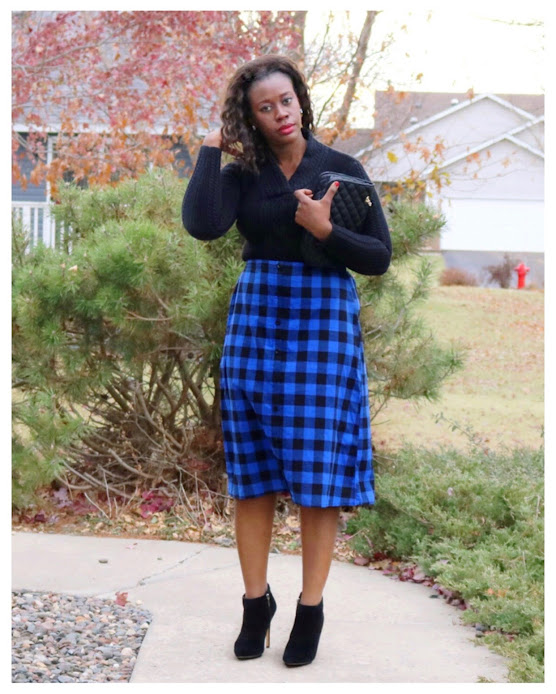 Out of the box style: Blue Gingham Skirt