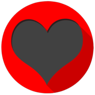 heart colorful button