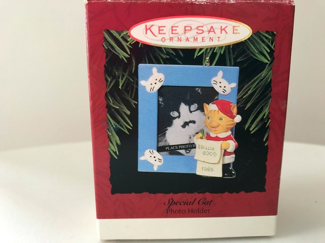 Hallmark Keepsake Ornament Special Cat Photo Holder 1995 Good Kitties Original Box