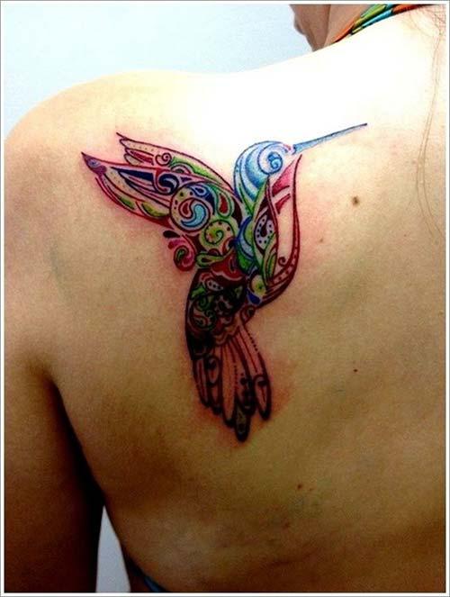 bird tattoo colour renkli kuş dövme modelleri