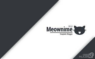 Meownime - Template Blogger Mirip Situs Anime Meownime