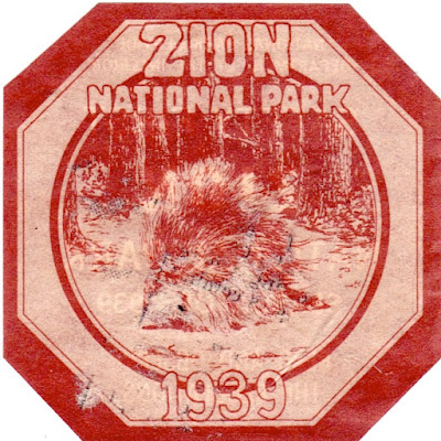 Zion National Park Decal 1939