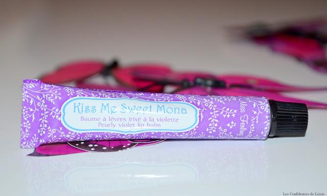 beauté, lèvres, baume, violette