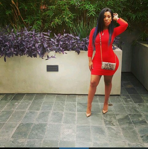 K Michelle stuns in red body-hugged dress. ~ CK Jacob ... K Michelle 2013 Body