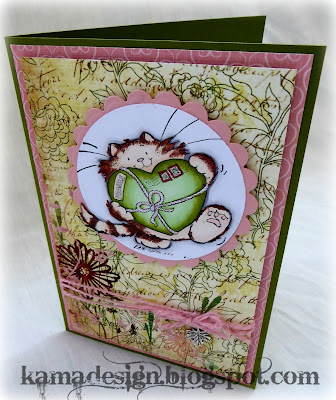 Penny Black cat card by kamadesign