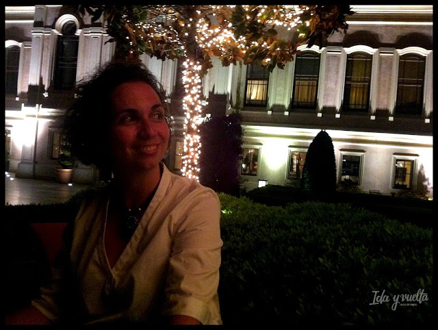 Four Seasons Hotel at the Bosphorus jardín nocturno