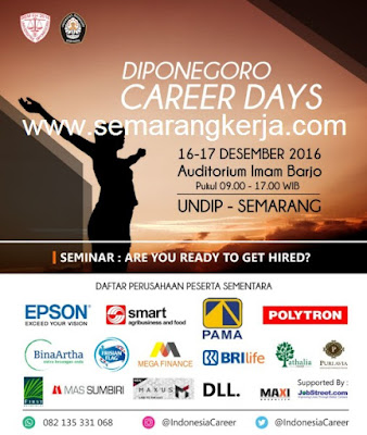 DIPONEGORO CAREER DAYS 16-17 DESEMBER 2016