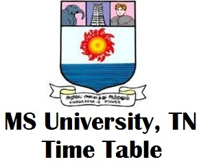 MS University Exam Time Table for April 2018