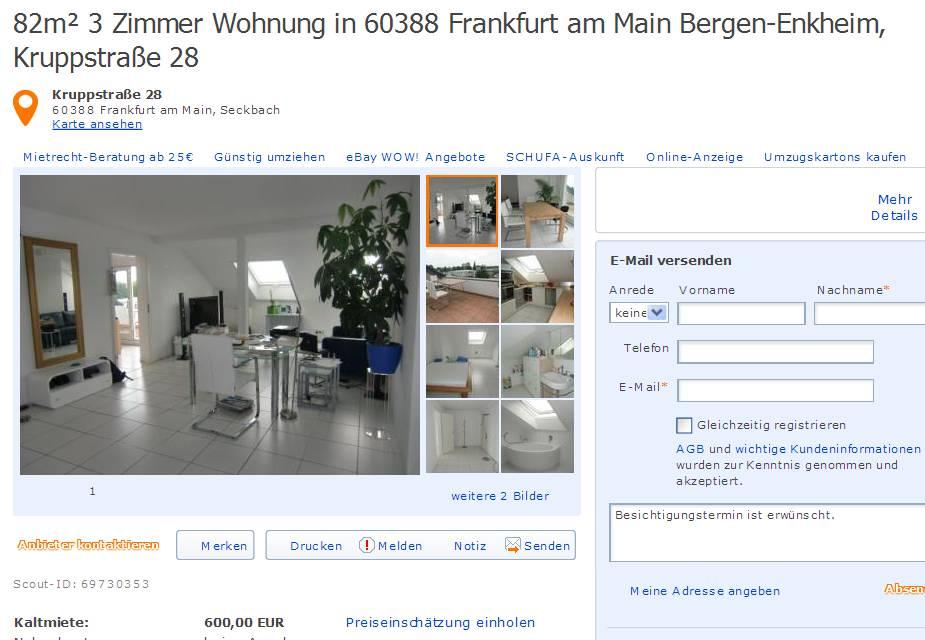 88m 2 zimmer wohnung in 60486 frankfurt. Black Bedroom Furniture Sets. Home Design Ideas