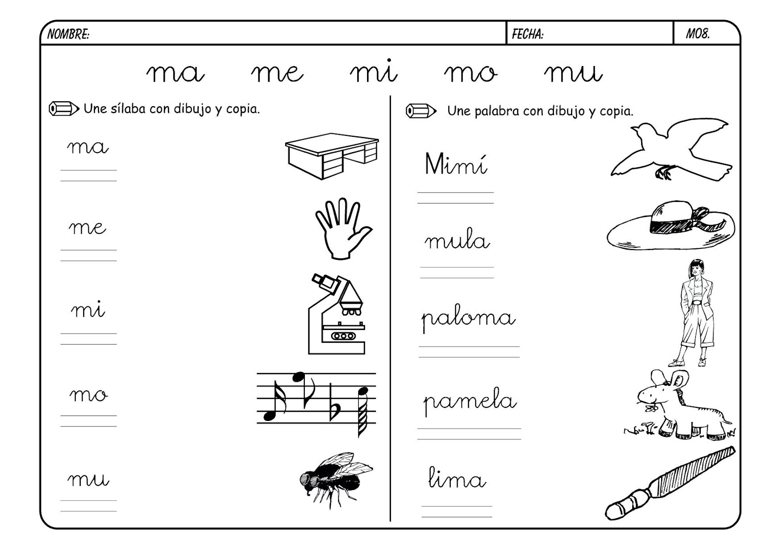 La letra m m la eduteca for L practicas