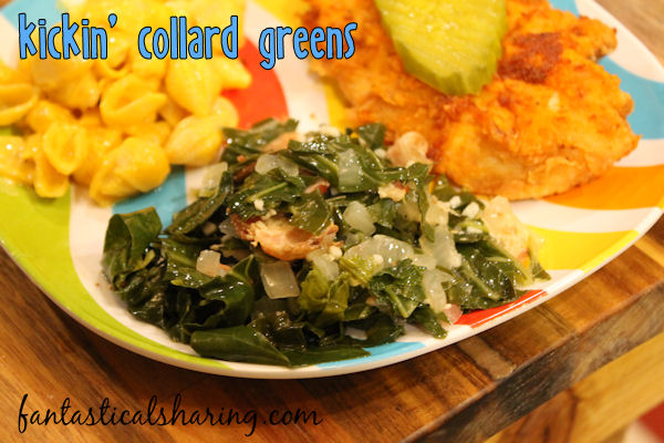 These Kickin' Collard Greens are the very best collards ever. Seriously.  #recipe #collardgreens #greens #sidedish #southernfood