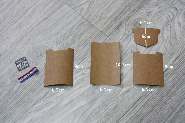 Gift Card holder with kraft tex paper. DIY tutorial in pictures.