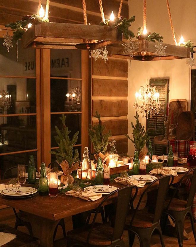 Decordemon rustic farmhouse with a charming festive