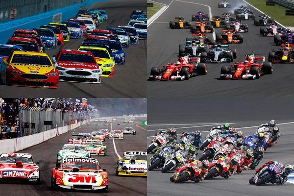 Calendario carreras Formula 1, Super TC 2000, Nascar, Turismo Carretera, MotoGP y más