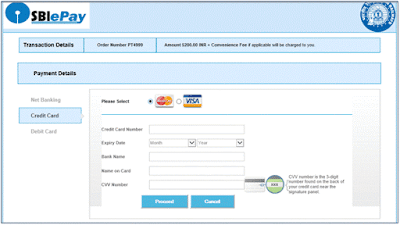 TDC Payment through Credit Card
