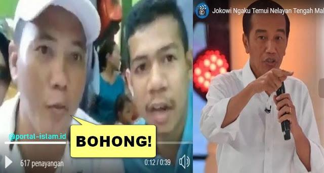 Warga Bantah Pengakuan Jokowi Temui Nelayan Tengah Malam Hanya dengan Sopir: ITU BOHONG!