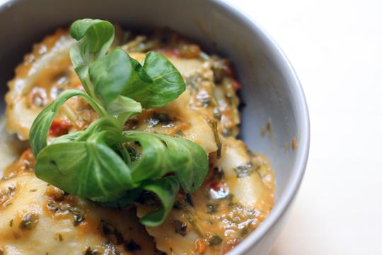 aubergine raviloli recipe